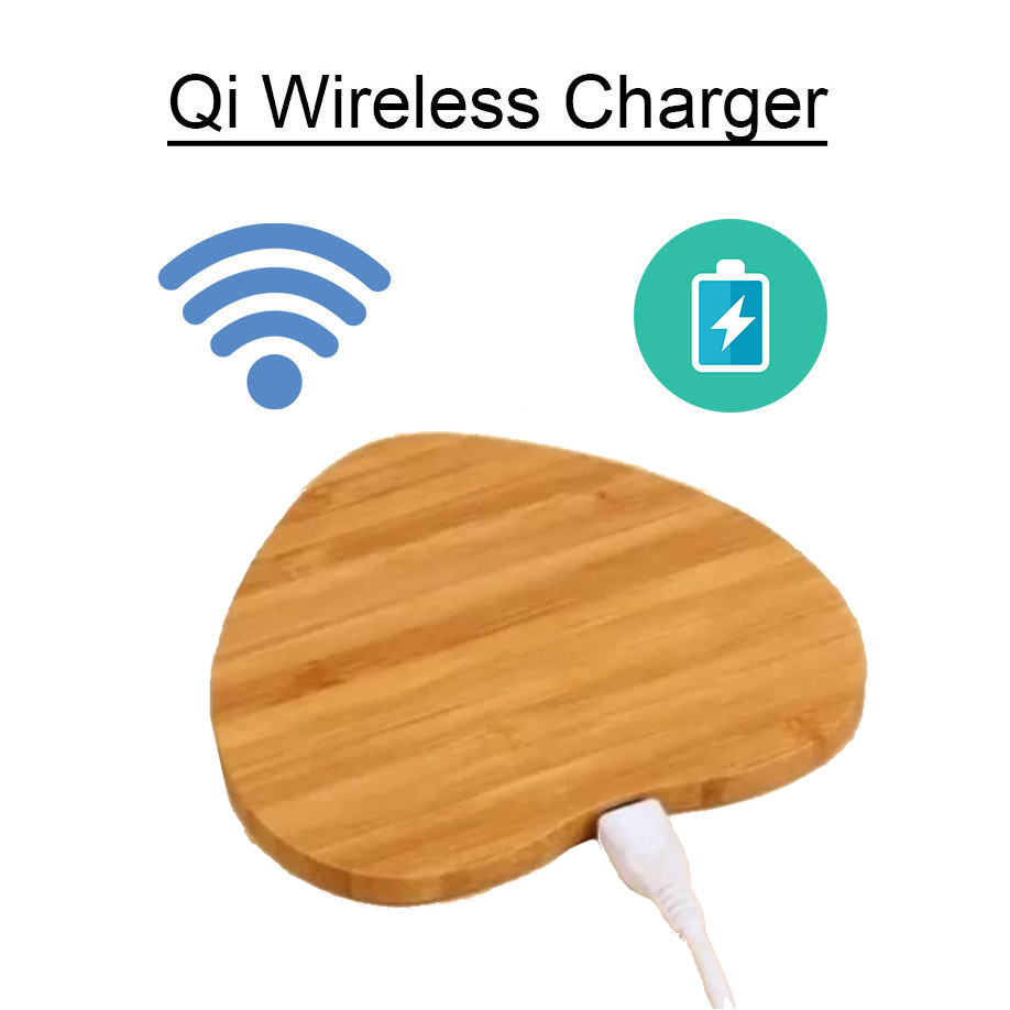 Mini Qi Wireless Charger Charging Wood Mat Pad For Samsung S8 iPhone 8 Plus X