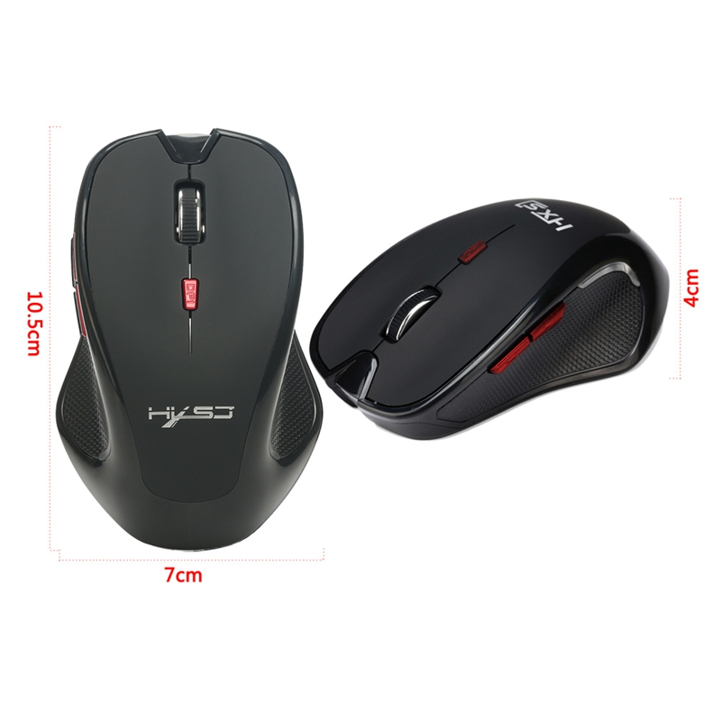 HXSJ T21 Wireless Bluetooth 3.0 Mouse 6 Button 4 Adjustable DPI Up To 2400dpi Gaming Mice