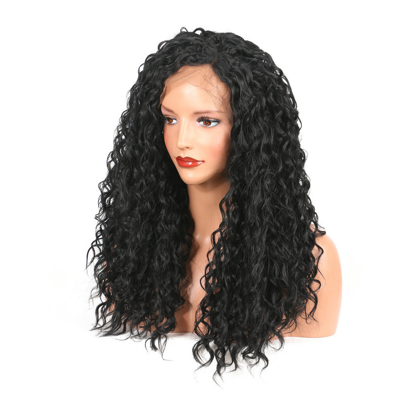 Black African High Temperature Silk Fiber Wig