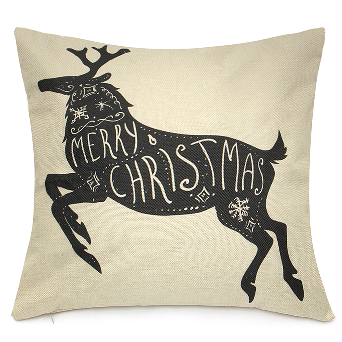LED Creative Christmas Cushions Cover Christmas Printing Sofa Pillow Case Christmas Part Supplies