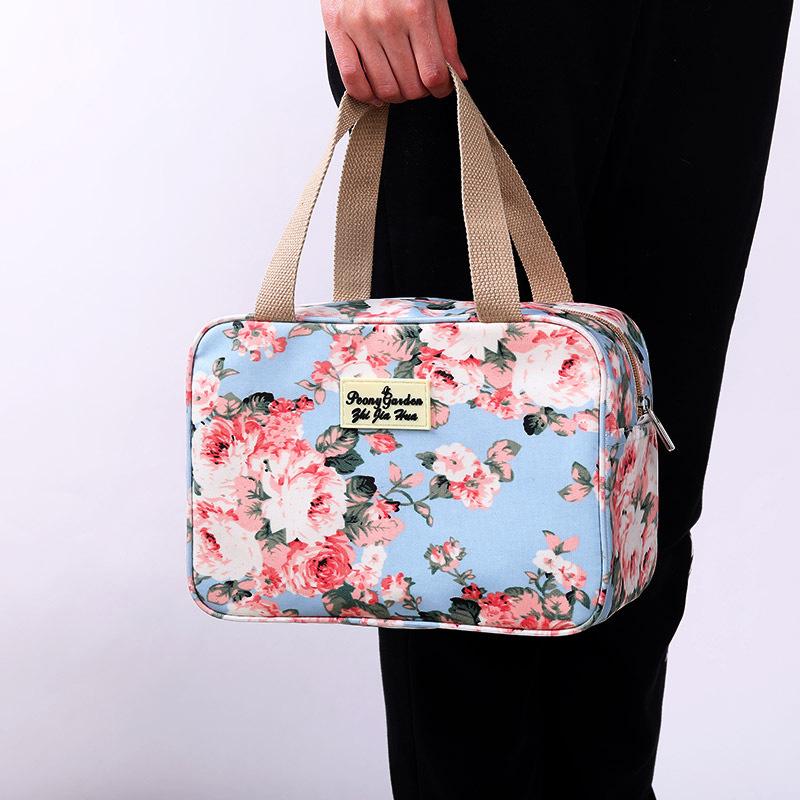 Women Waterproof Travel Bag Print Fashion Nylon Swimming Wash Storage Bag Cosmetic Bag Handbag