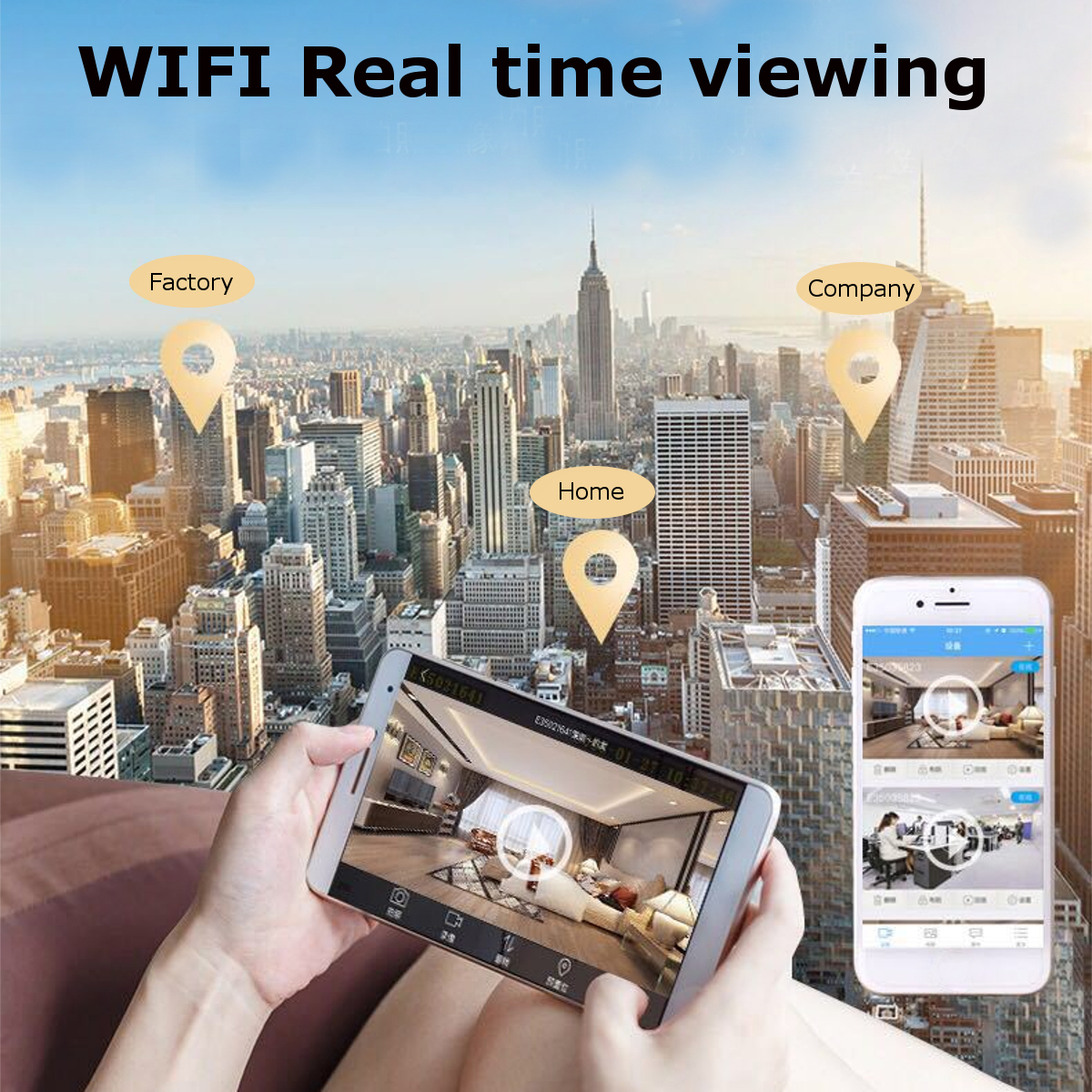 Mini 1080P HD Wireless WiFi Smart Security IP Camera Monitor Home 150° Magnetic CCTV