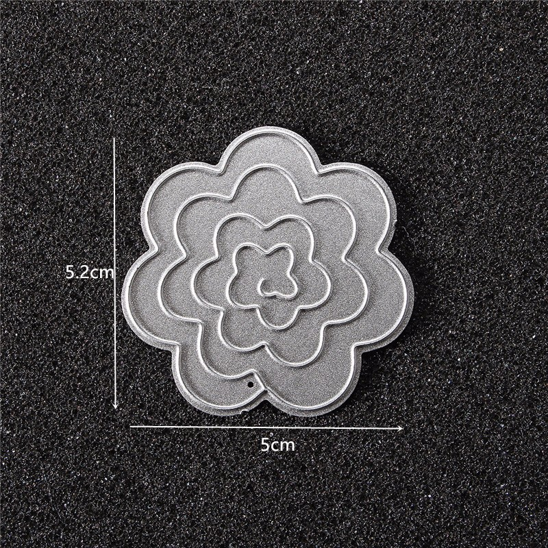 Flower Cutting Dies Stencil Scrapbook Card Album Paper Embossing Craft Decoration