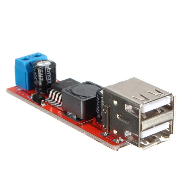 Dual USB 9V/12V/24V/36V to 5V Converter DC-DC 3A Step Down Power Module
