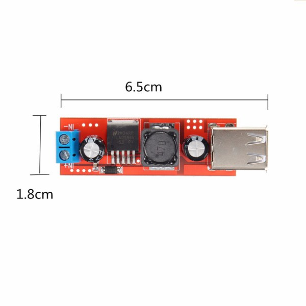 3Pcs Dual USB 9V/12V/24V/36V to 5V Converter DC-DC 3A Step Down Power Module