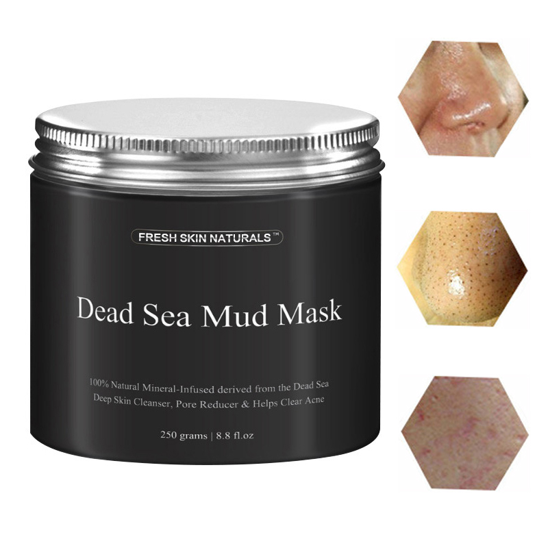 Natural Mineral Dead Sea Mud Mask Exfoliation Moist Pore Shrinking Tender Cleaner Acne Treatment