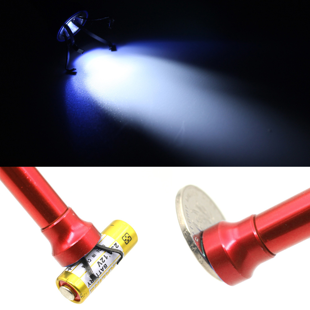 Magnet Flexible Pick Up Tool Grabber Reacher Magnetic Long Spring Grip Home Toilet Gadget Sewer Cleaning Pickup Tools 4 Claw + LED Light