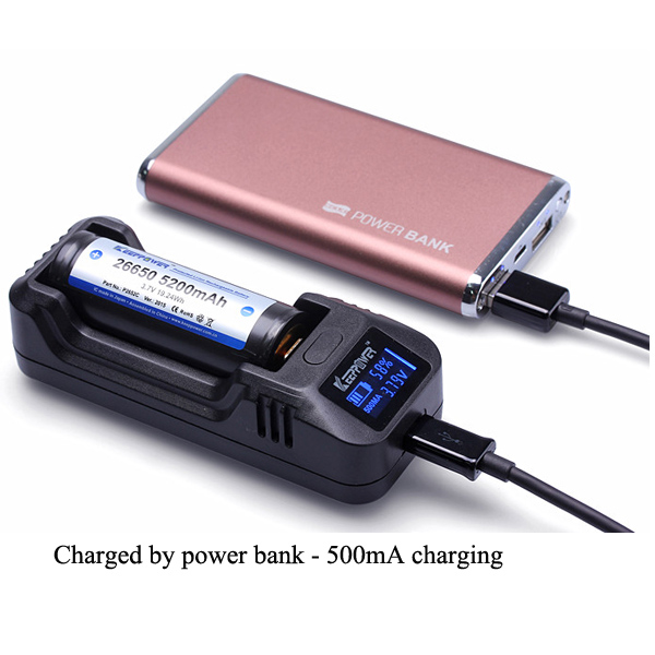 KeepPower L1 LCD Display Intelligent 26650/18650/16340 Battery Charger