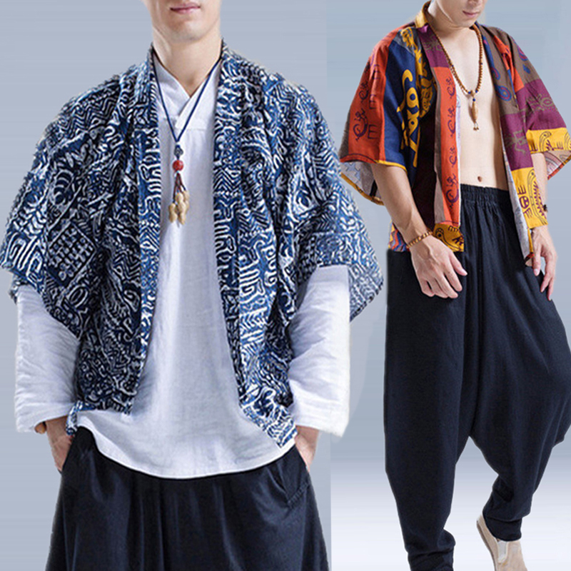 Ethnic Style Casual Fashion Chinese Hanfu Loose Cloak Coats