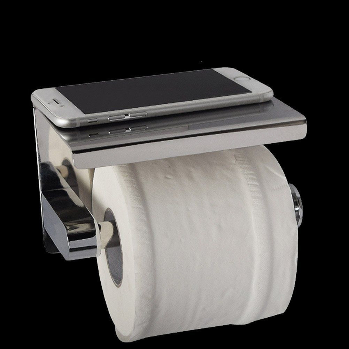304 Stainless Steel Toilet Paper Roll Shelf Holder Bath Accessory Tissue Wall Mounted Storage
