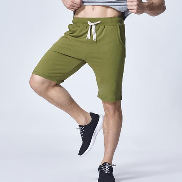 Mens Sports Running Shorts Pants Fashion Casual Soft Knee-length Shorts