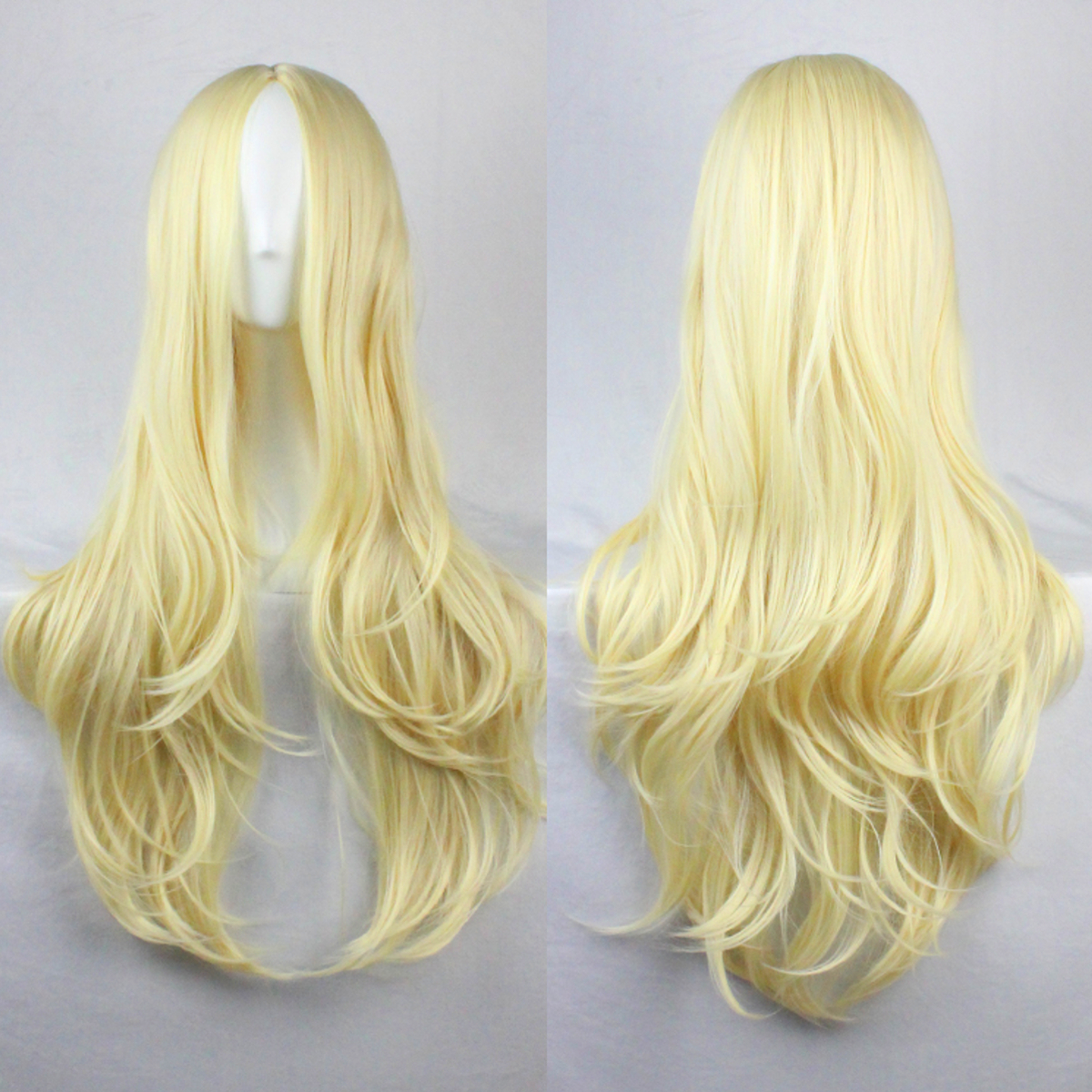 26'' Anime Long Curly Wavy Synthetic Hair Full Wig For Party Cosplay Using