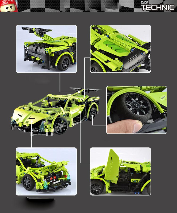 Doublee CaDA Lamborghini Simulation Sports Car Building Blocks Toys Remote Control Car C51007W