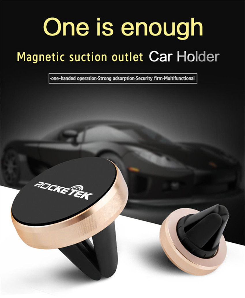 Rocketek Mini Strong Magnetic Car Mount Holder for iPhone Xiaomi Huawei Mobile Phone GPS