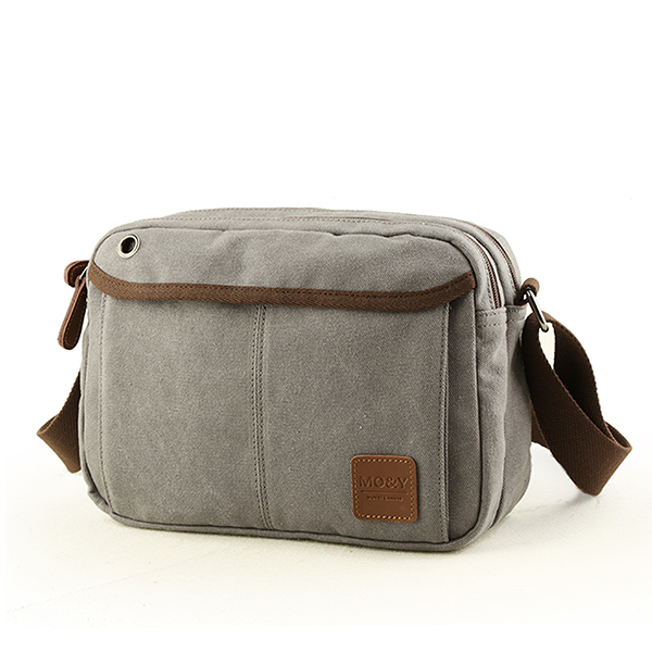 b51c31c09a Men Canvas Vintage Leisure Crossbody Bag Solid Horizontal Shoulder Bag  Weekend Bag