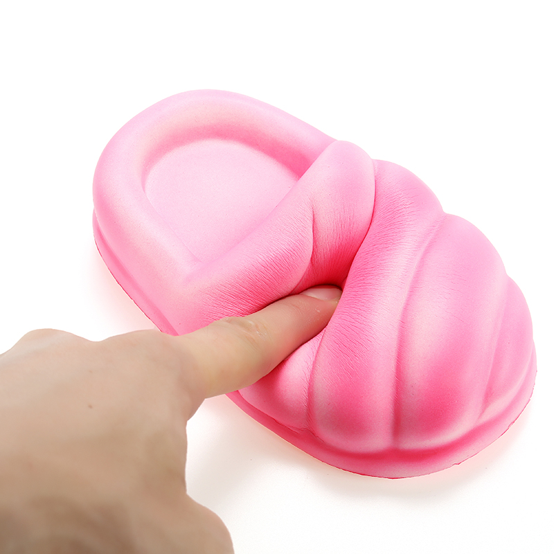 Squishy Slipper Bread 14cm Slow Rising With Packaging Collection Gift Decor Soft Squeeze Toy