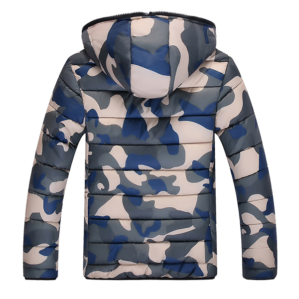 Winter Fashion Camo Thick Warm Hooded Padded Jacket