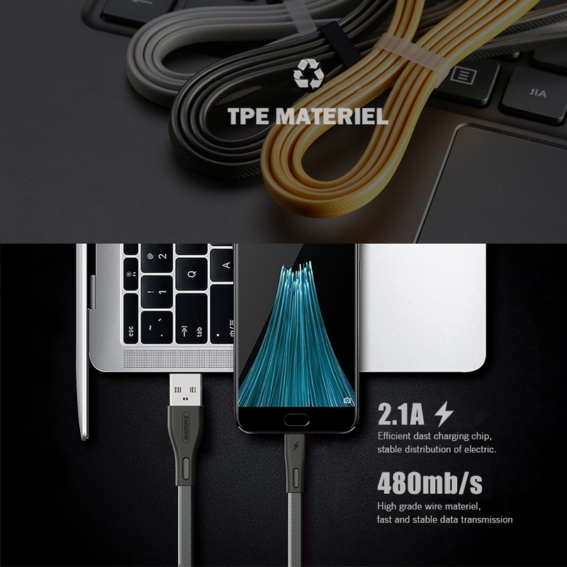 REMAX Full Speed Pro Series Micro USB 2.1A Fast Charging Phone Cable for Samsung Xiaomi Huawei