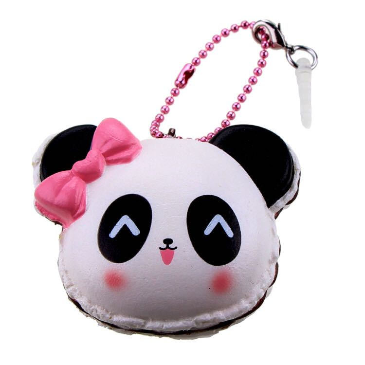 Squishy Panda Cartoon Slow Rising Toy With Packing Gift Collection Squeeze Phone Pendant