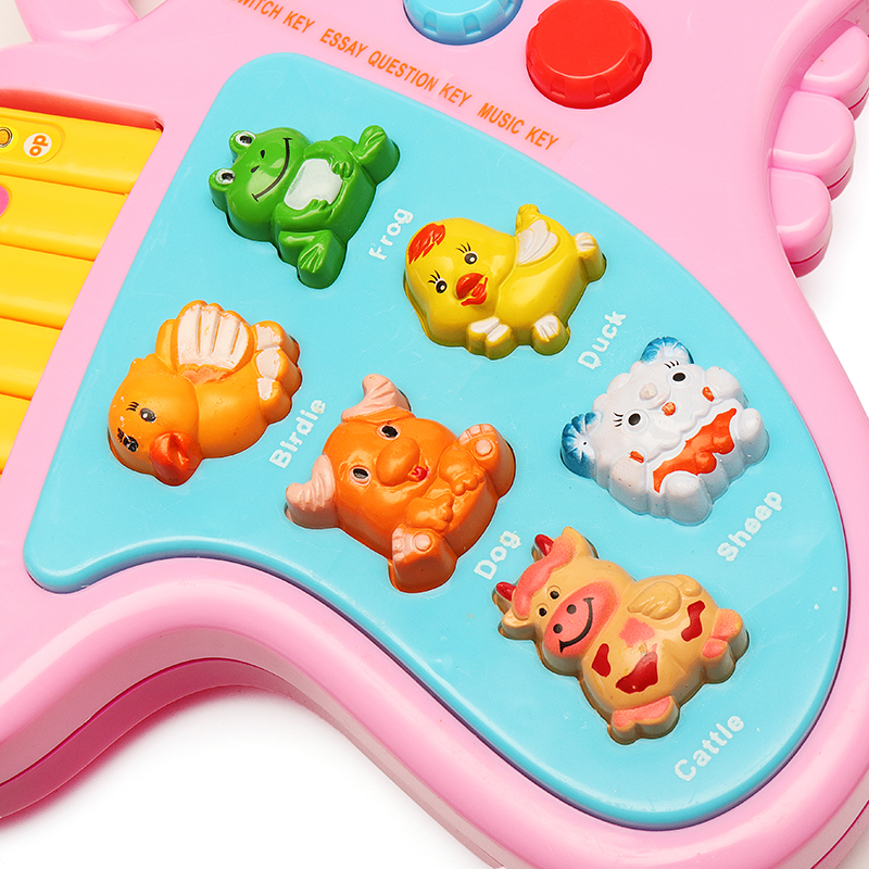 Plastic Cartoon Cute Animal Sound Guitar Children Kids Music Toys for 3-6 years old Kids Gift