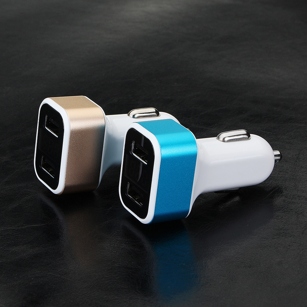 Bakeey 3.1A Dual USB Ports LED Voltage Monitor Fast Car Charger For Smart Phone Tablet MP4