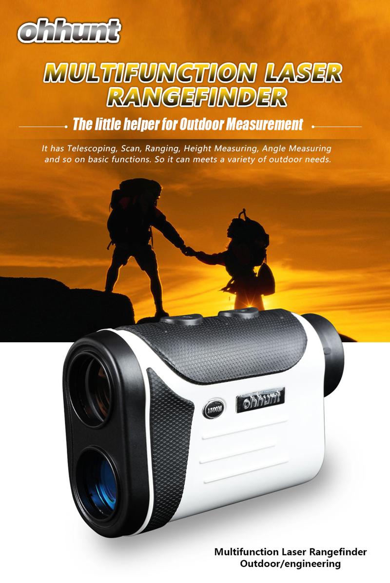 Ohhunt 8X Magnification 600M Hunting Golf Laser Rangefinder Distance Measuring Campact Monocular
