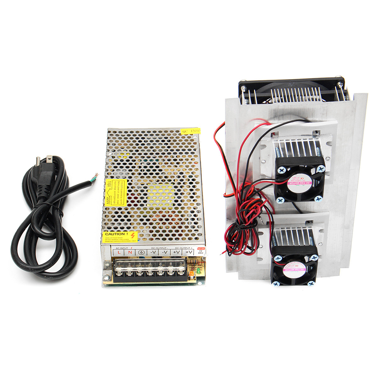 120W 12V 15A DIY Semiconductive Electronic Refrigerator Thermoelectric Cooling System Double Fan