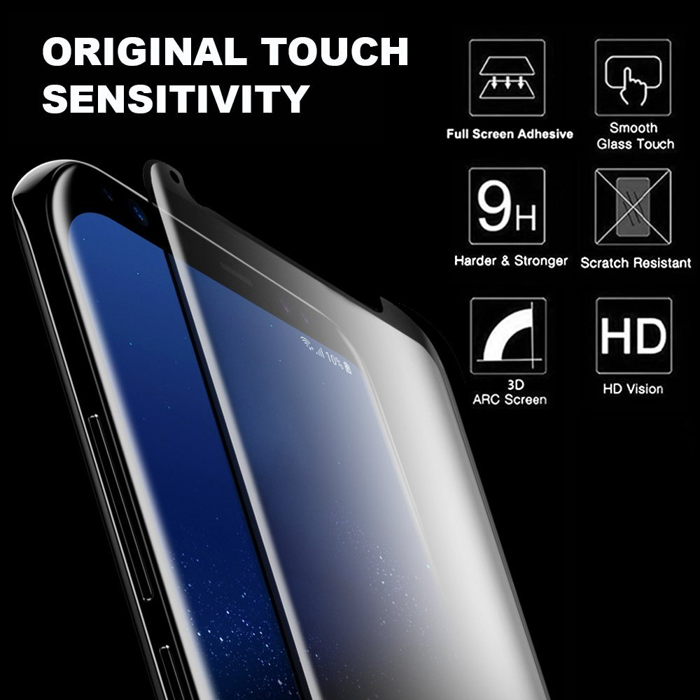 Bakeey Full Adhesive 3D Curved Edge Case Friendly Tempered Glass Screen Protector For Samsung Galaxy S8 Plus