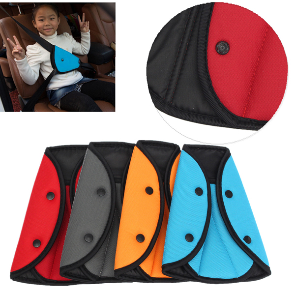 Child Safety Cover Harness Strap Car Adjuster Pad Kids Seat Belt Seat Belt Clip