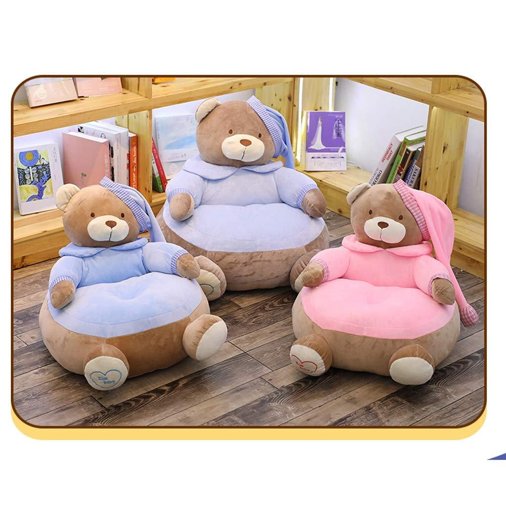 Kids Relaxing Sofa Seating Chair Covers Only Lazy Bean Bag Baby Furniture Cushion for Home