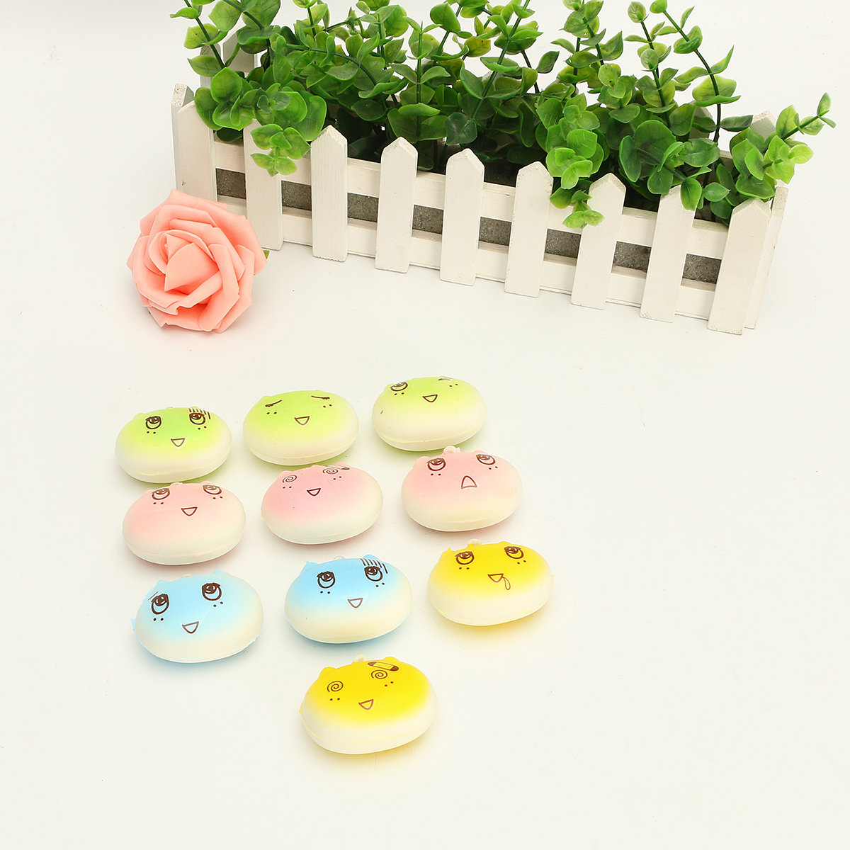 1PCS Newest Kawaii Face Simulate Colorful Cartoon Totoro Squishy Toy Stress Reliever Phone Chain