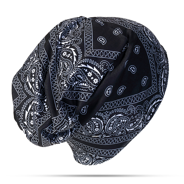 Men Women Printing Multi-function Beanie Cap