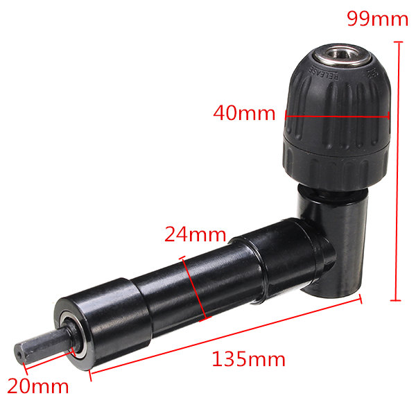 0.8-10mm Right Angle Bend Extension 90 Degree Right Angle Drill Adapter Electric Tool