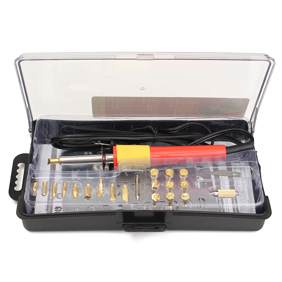 30W 110V Wood Burning Pyrography Set Pen Tips Art Crafts Tools Kit Alphabet Number 39 Characters