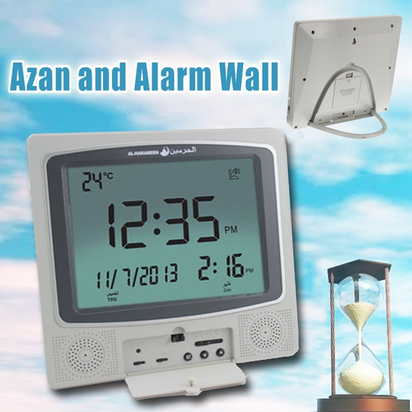 Digital Muslim Azan Wall Clock Pray Alarm Clock Automatic Fajr Qibla Gift Temperature Display