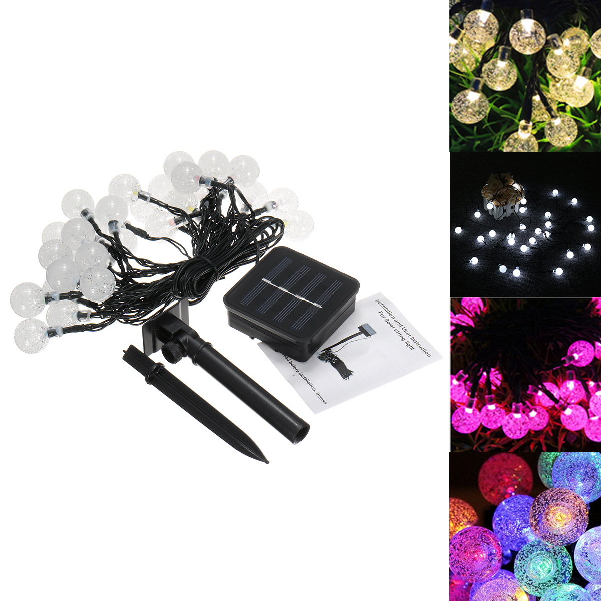 Outdoor String Lights South Africa: Solar Powered 6M 30LEDs Bubble