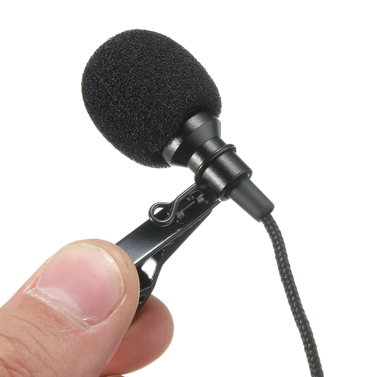 Mini 3.5mm Jack Microphone Lavalier Tie Clip Microphones Mic For Speaking Speech Lectures 2.4m