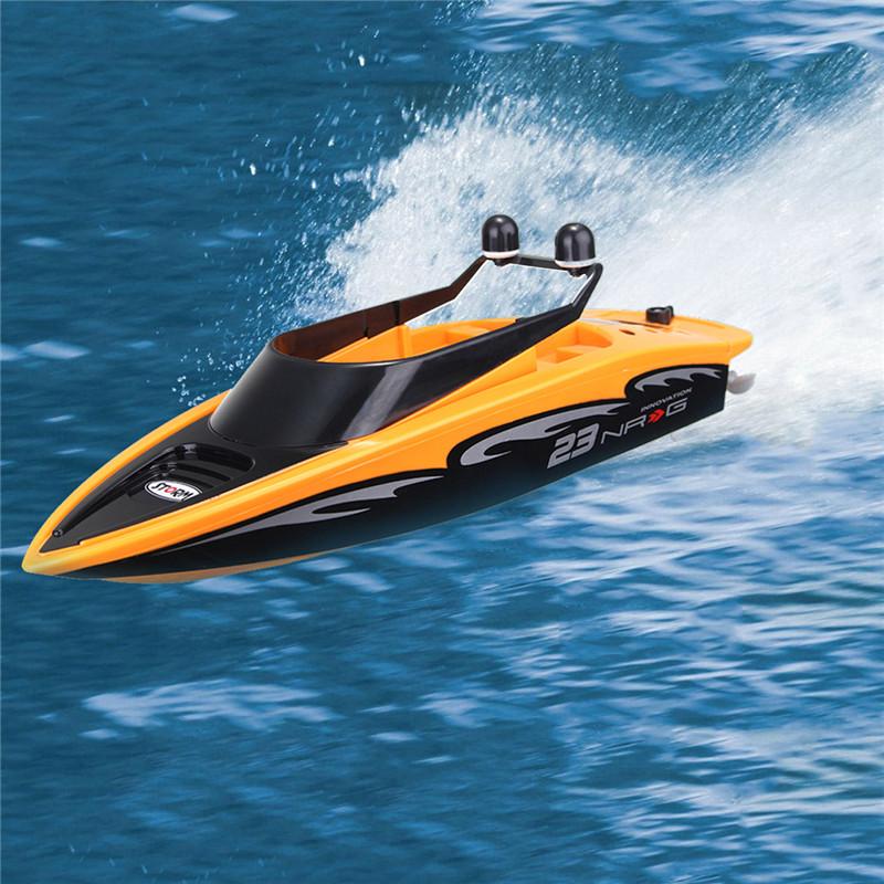 4 Kênh Sạc 2.4Ghz Không Dây Tốc Độ Cao Rc Racing Thuyền Không Thấm Nước Màu Cam