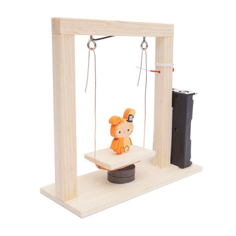 Diy Handmade Invention Experiment Wood Science Swing Set Electromagnetic Science Swing Set Children Educational Toys For Kids Toys & Hobbies Model Building