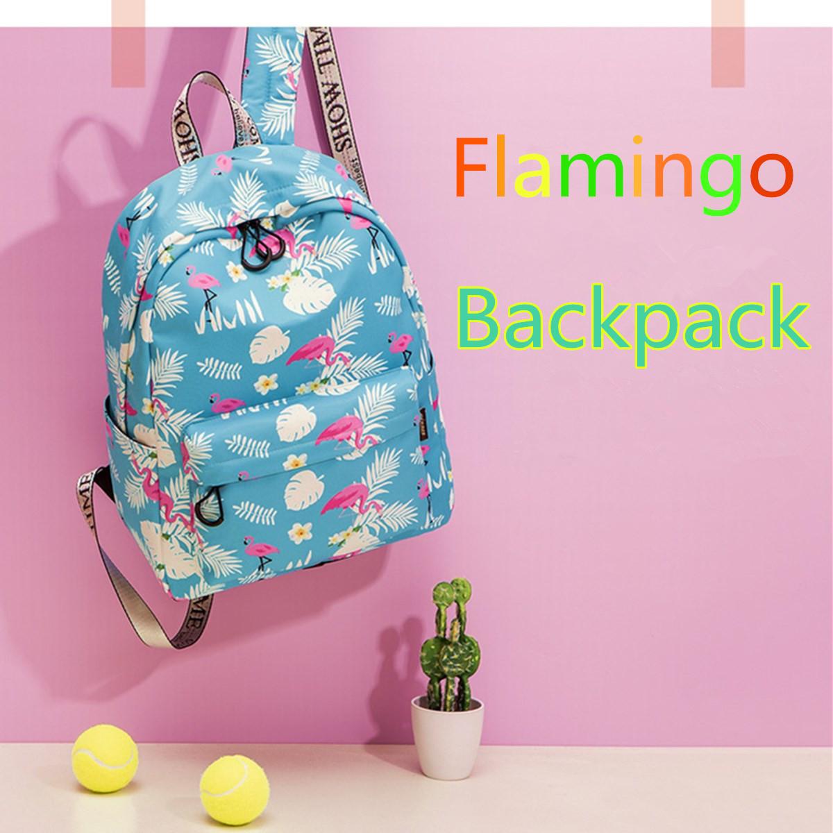 14inch 15.6inch Women Girl Flamingo School Bag Backpack Outdoor Travel Laptop Rucksack Handbag