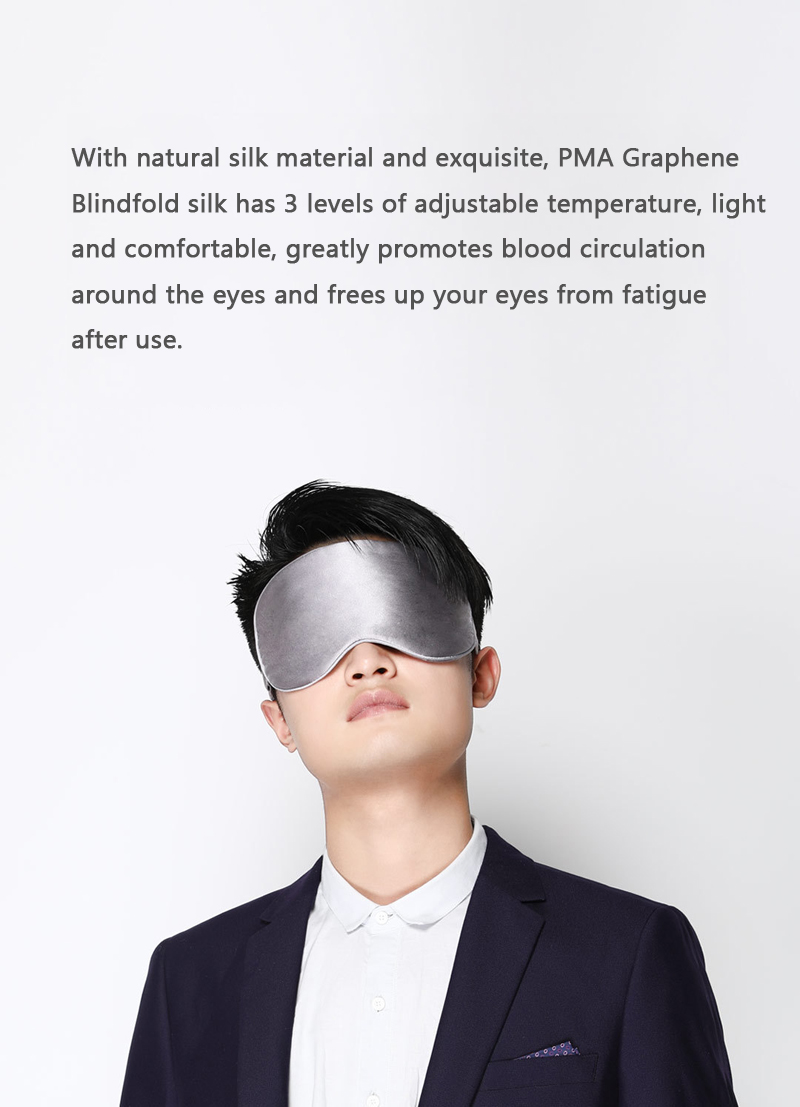 Xiaomi Mijia PMA Graphene Therapy Heated Eye Mask Silk Eye Patch Fatigue Relief Eye Massager