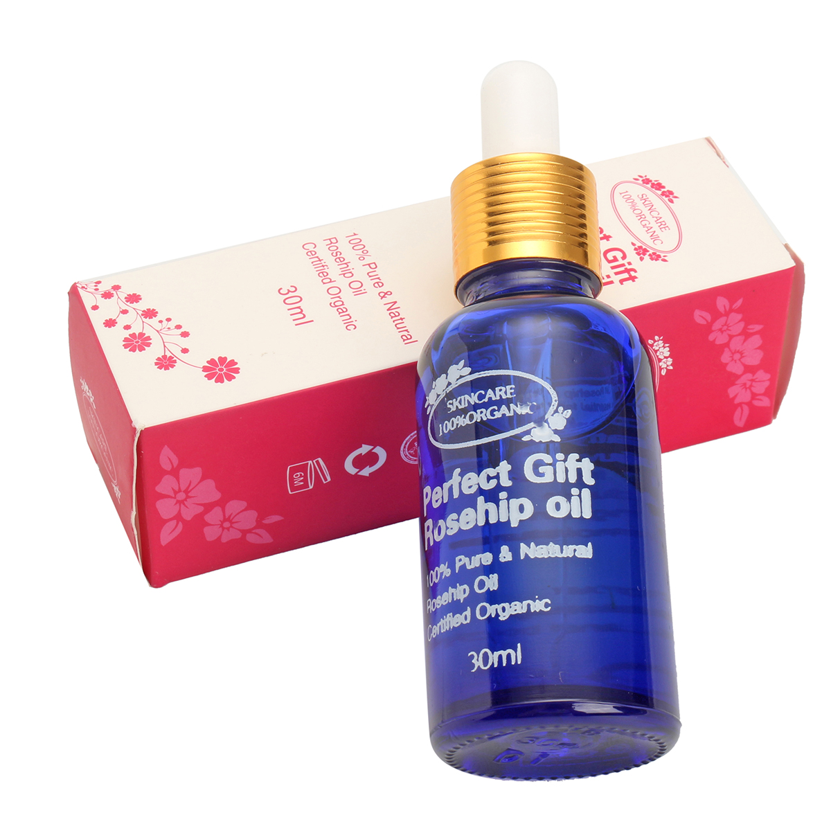 100% Natural Pure 30ml Rosehip Oil Moisturizer Anti-Ageing Remove Wrinkles Face Body Essential Oils