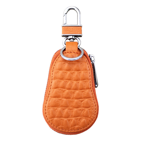 Women Crocodile Pattern Hanging Car Chain Bags Portable Zipper Key Pouch Case