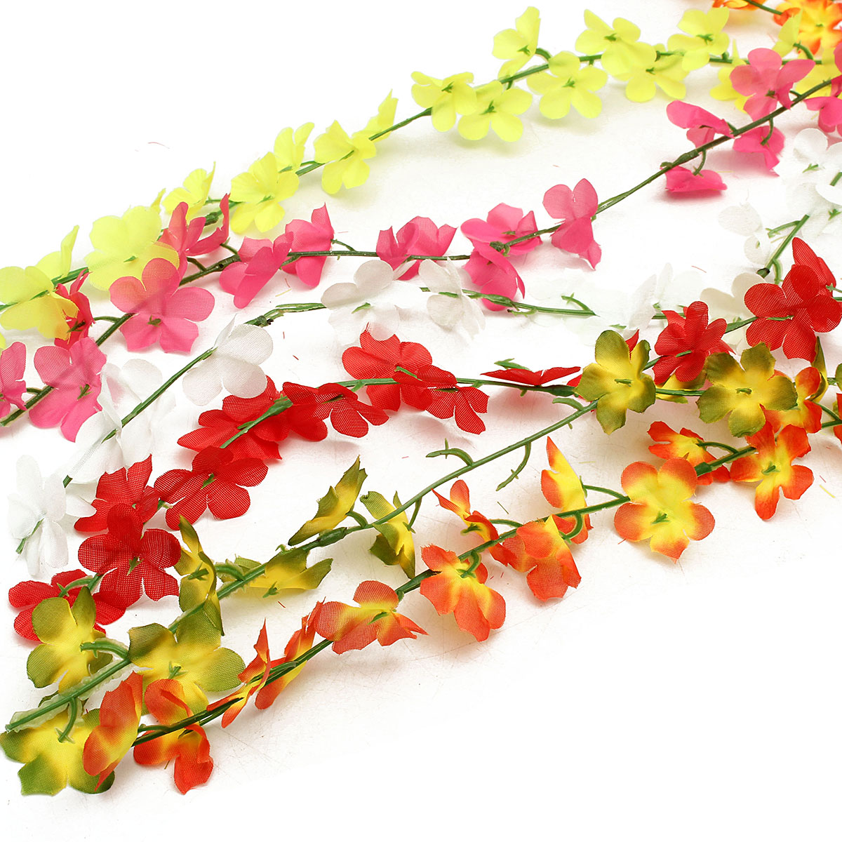 Artificial Silk Flower Vine Leaf Garland Plant Foliage Rattan Wedding Home Decorations
