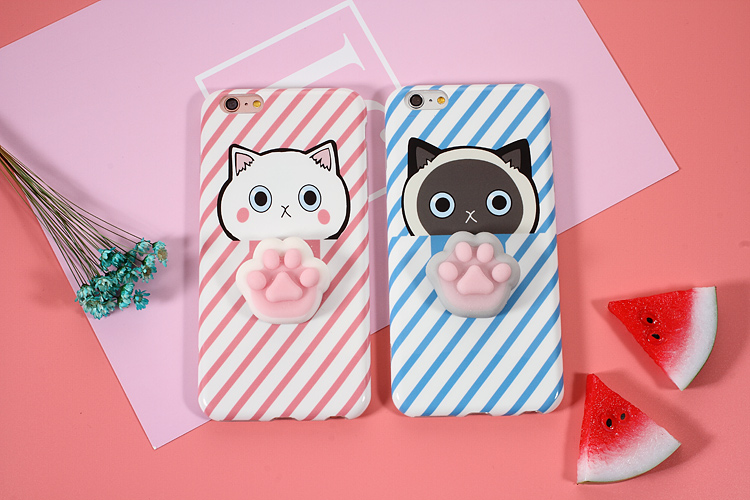 Bakeey™ Cartoon 3D Squishy Squeeze Slow Rising Cat Claws Soft TPU Case for iPhone 6 6s& 6Plus 6sPlus