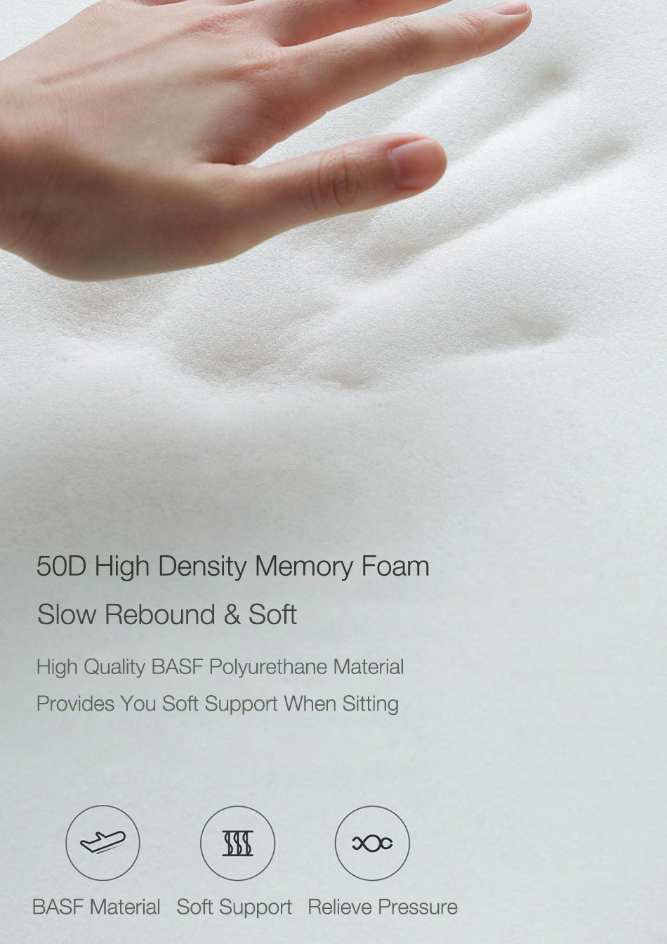 XIAOMI 8H Memory Foam Pillow Cotton Waist Pillow Multifunctional Office Travel Home Car Waist Protection Cushion
