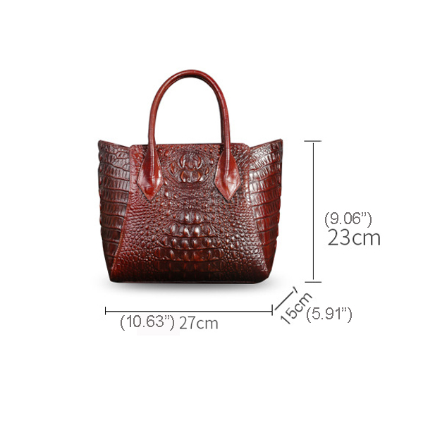Genuine Leather Retro New Large Handbag Crocodile Tote bag