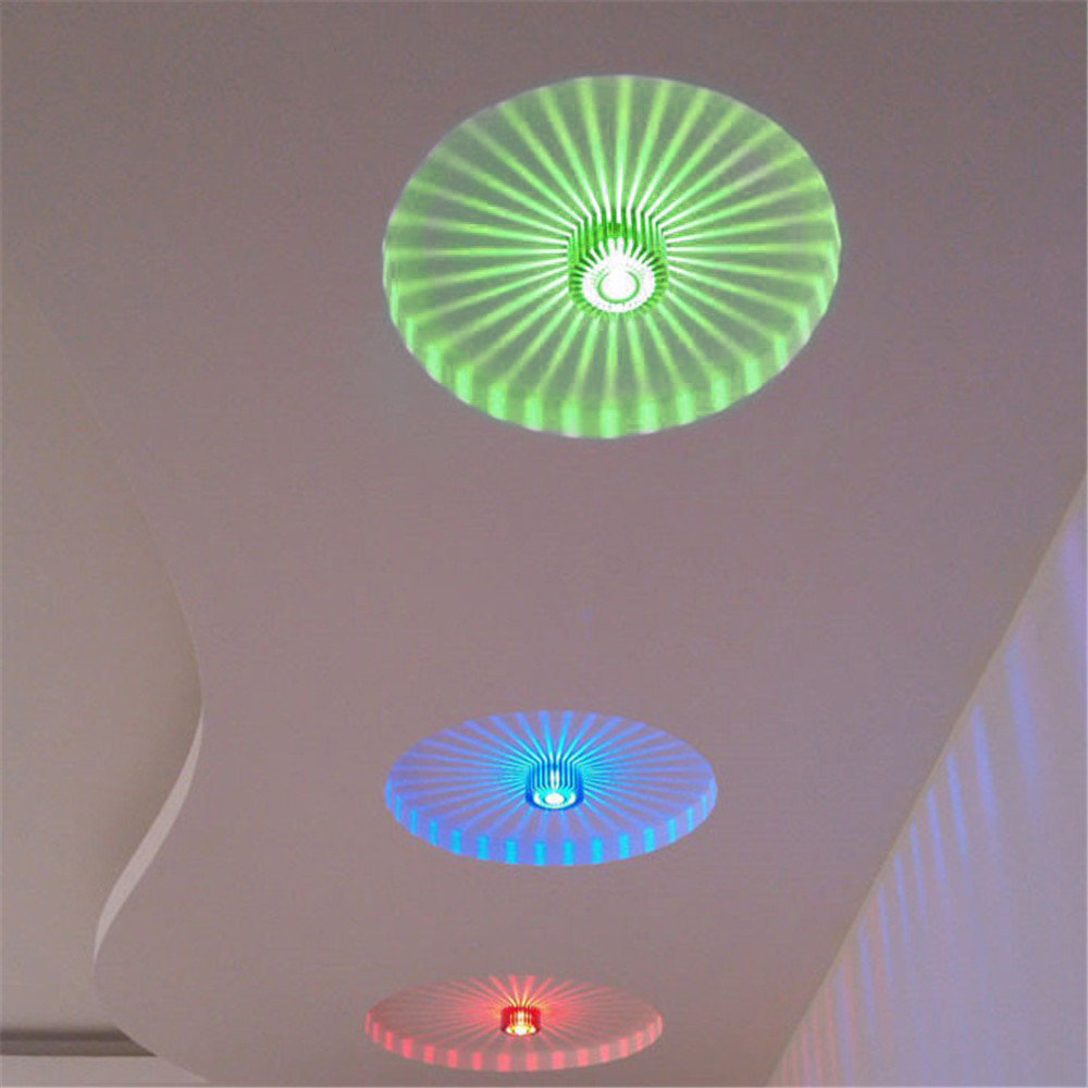 3W Creative Flower Shape 5 Color Light Options LED Porch Wall Light Home Bar Decorative Light