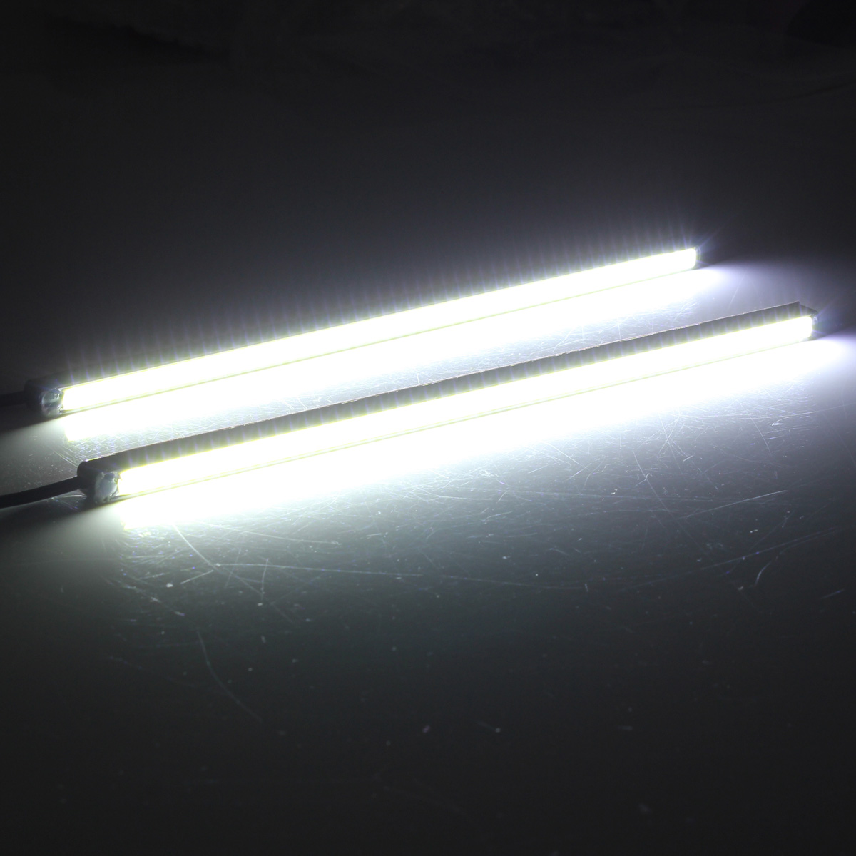 20cm COB LED DRL Daytime Running Lights Car Driving Fog Strip Lamp 12V 5W White 2PCS