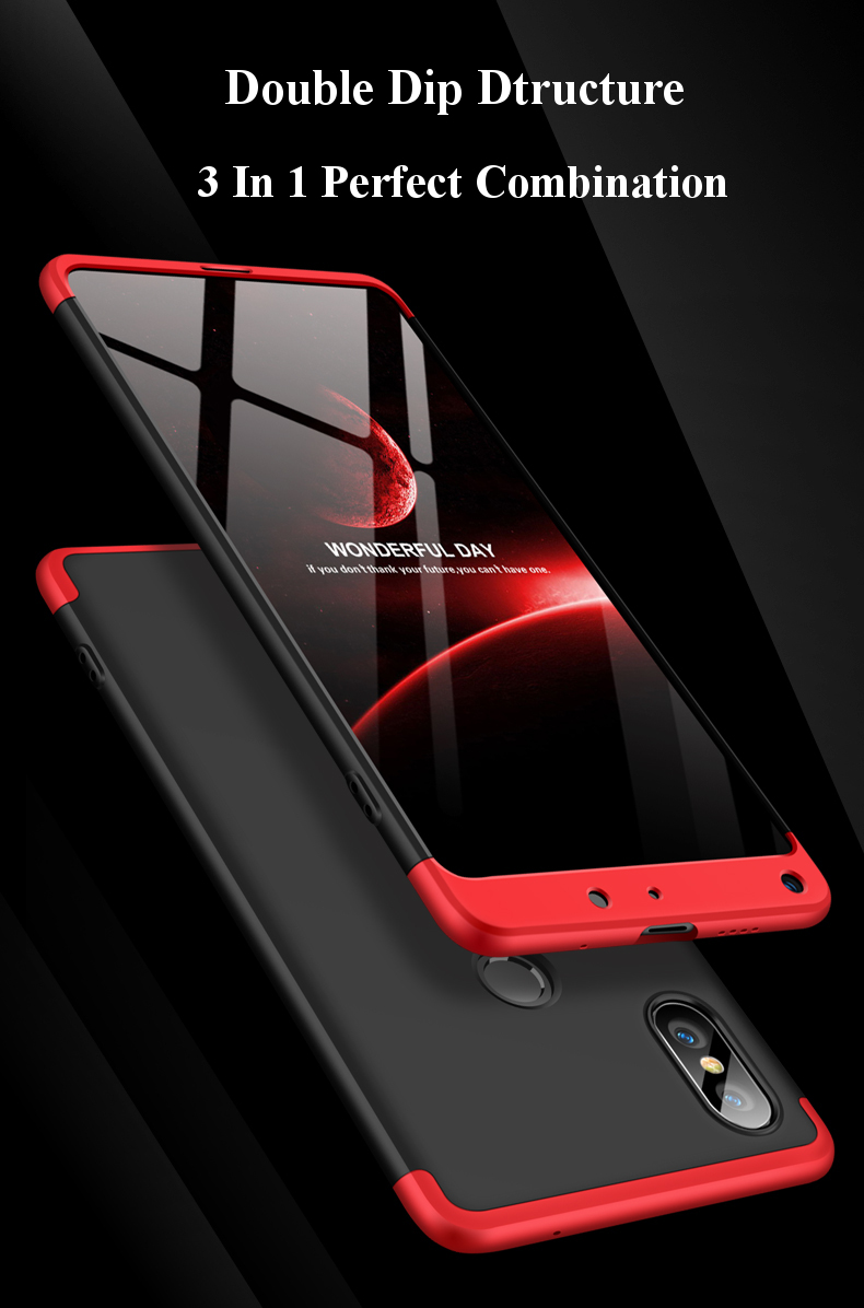 Bakeey™ 3 in 1 Double Dip 360° Full Protection PC Protective Case For Xiaomi Mi MIX 2S